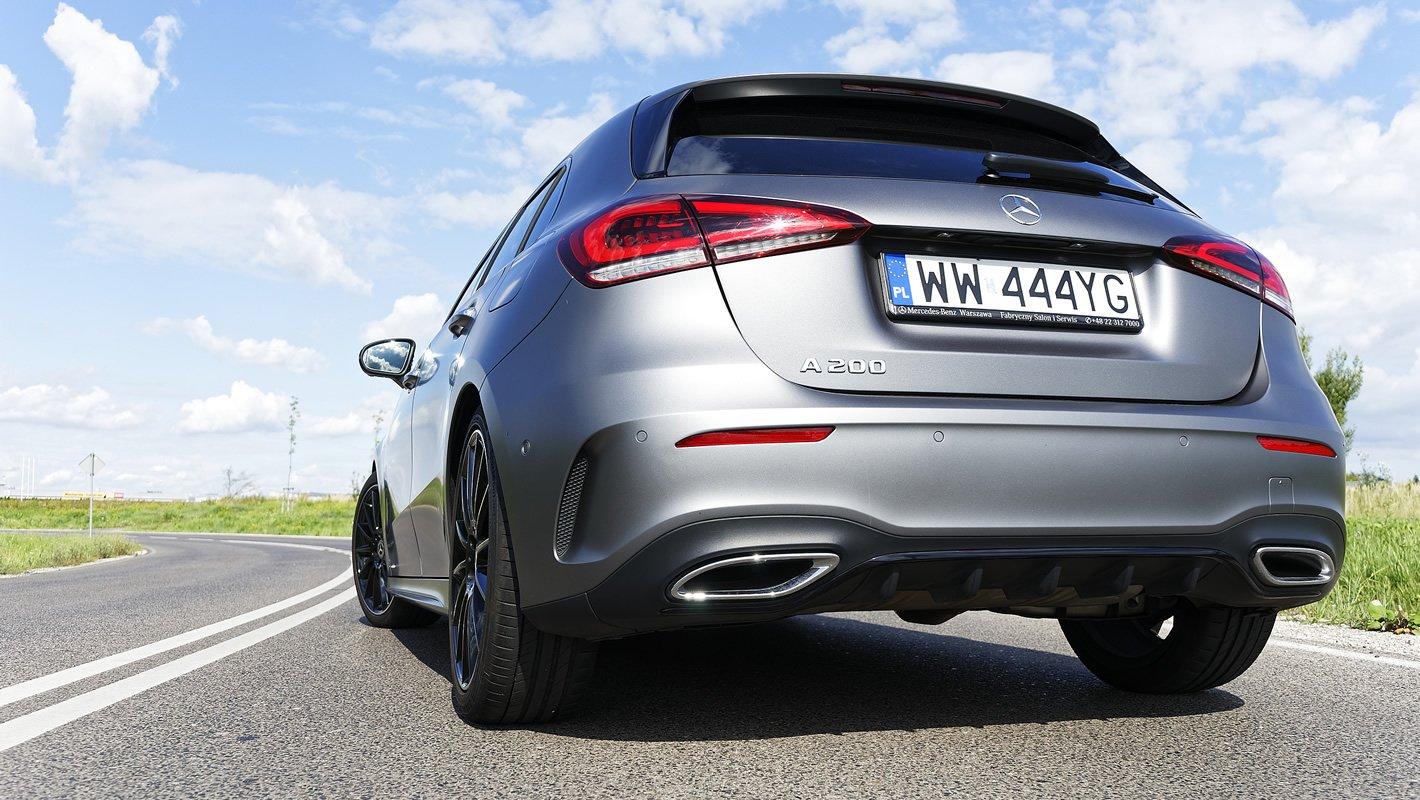 Mercedes-Benz Klasy A 200 - końcówki ukłądu wydechowego