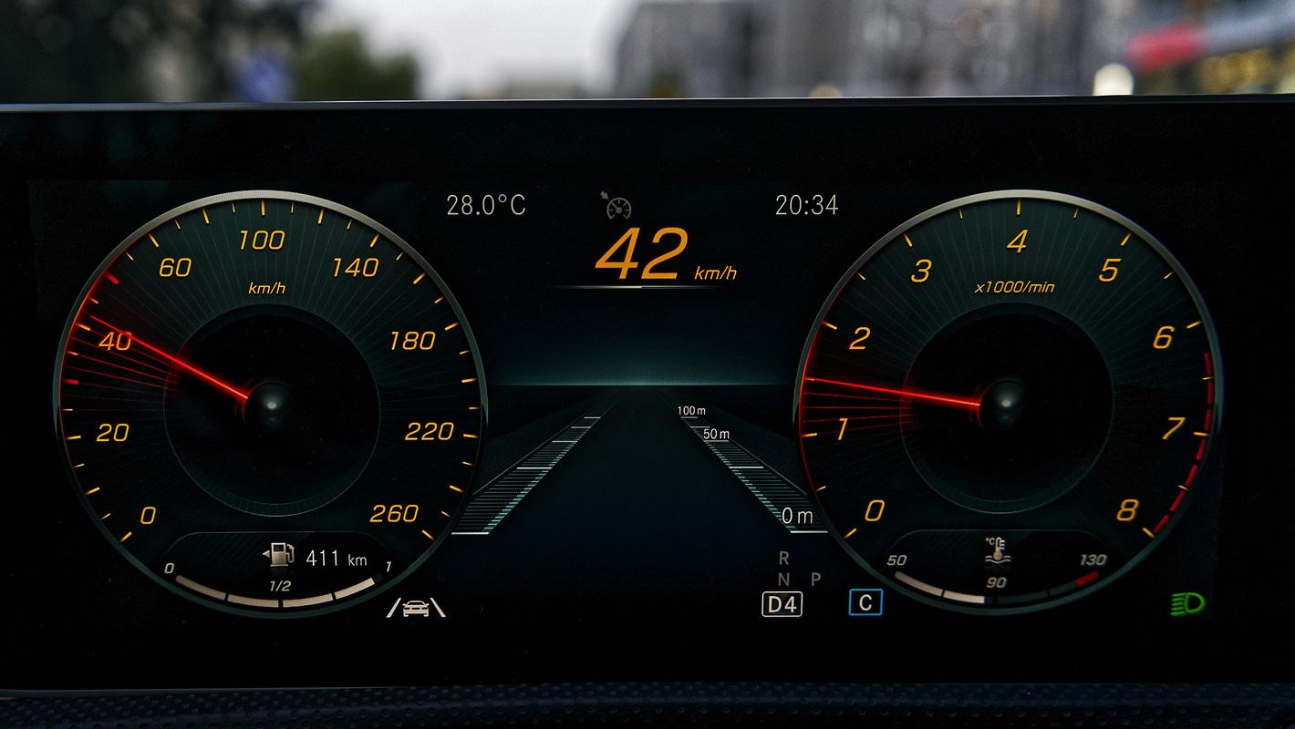 Mercedes-Benz Klasy A 200 - zegary kierowcy