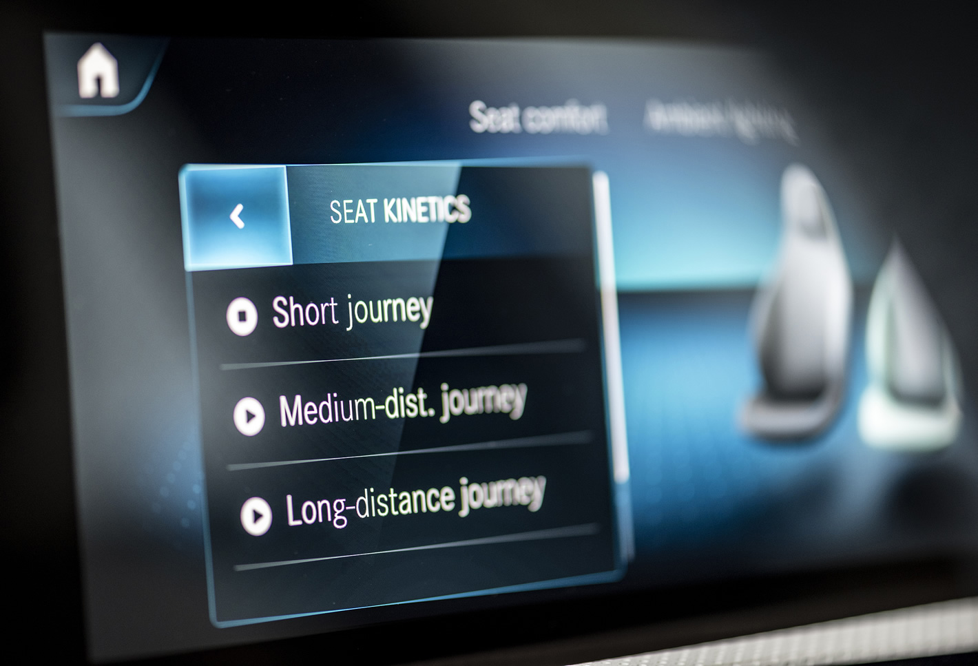 Mercedes-Benz Klasy A 200 - kinetyka foteli