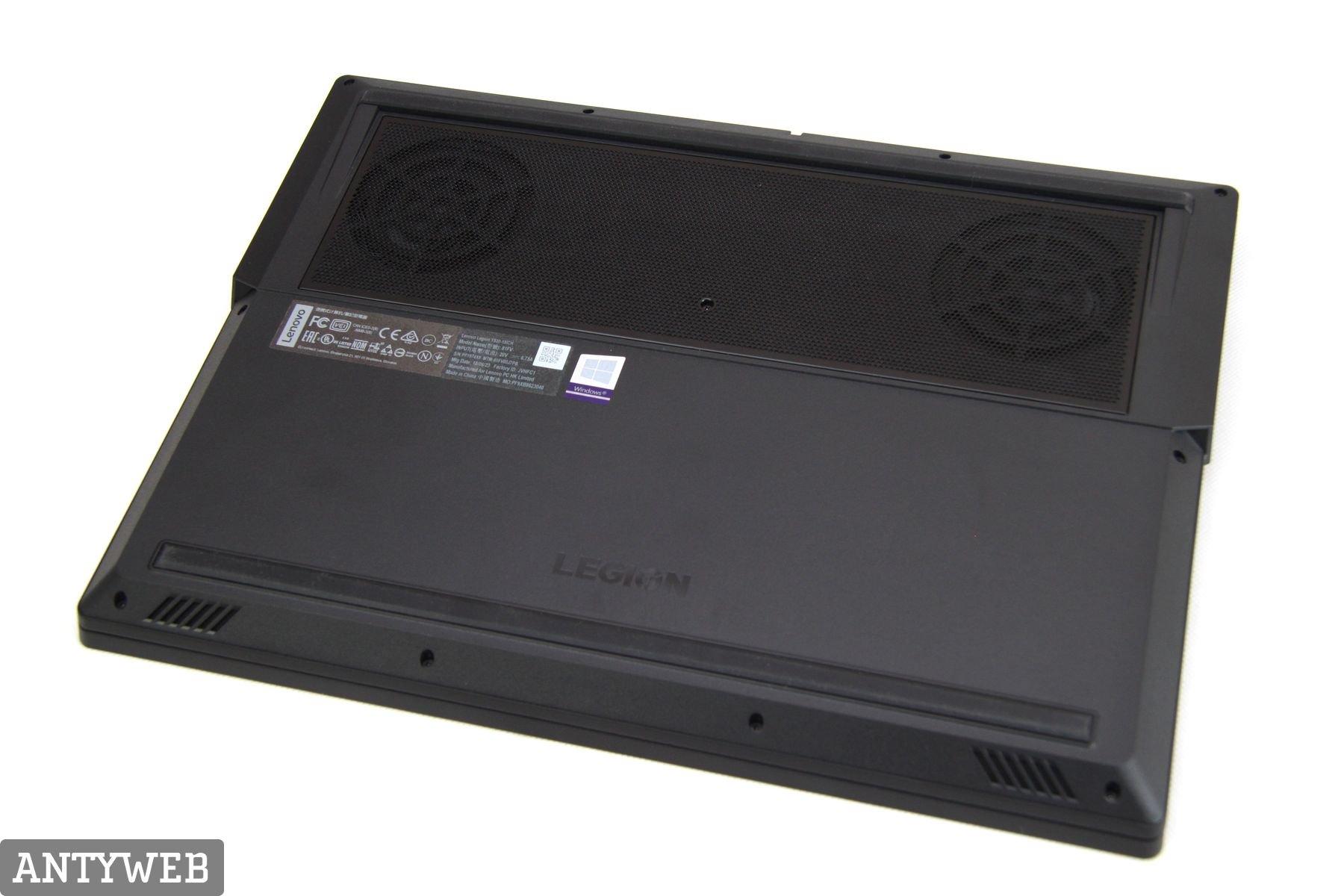 Lenovo Legion Y530 spód system chłodzenia