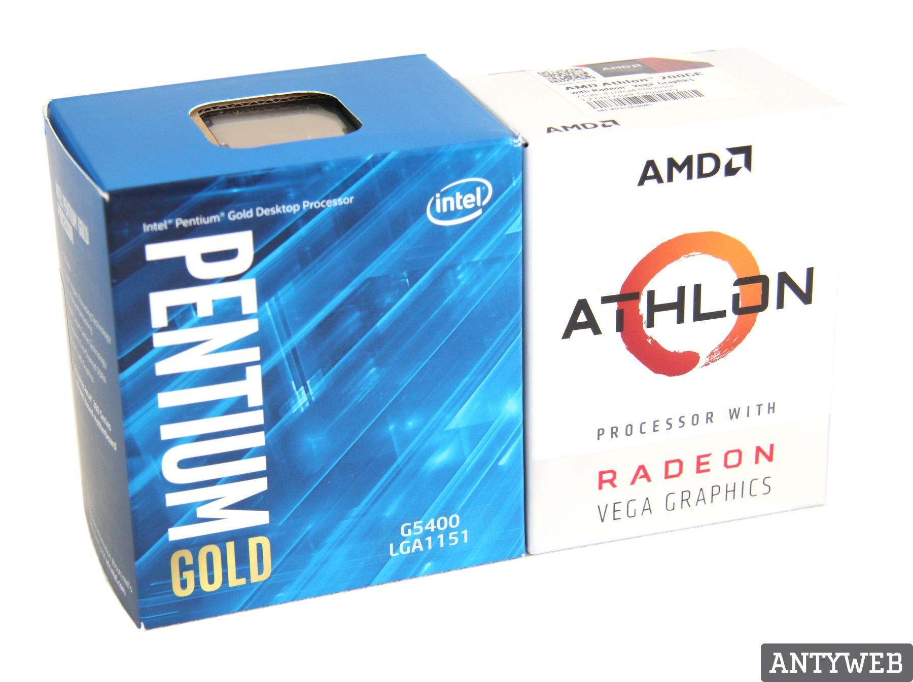 AMD Athlon 200GE Pentium G5400