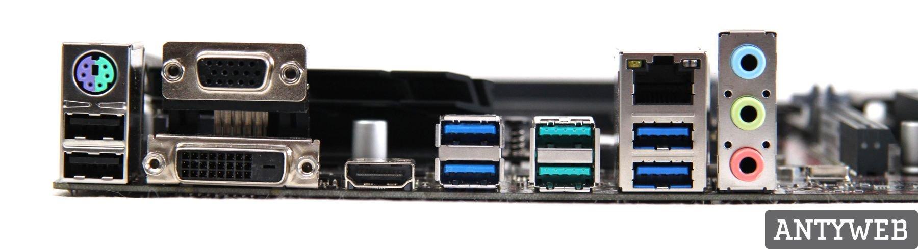 ASUS B350 Plus porty