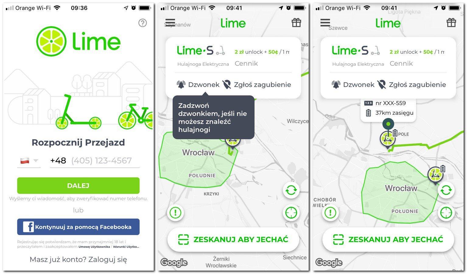 Cennik Lime w Polsce
