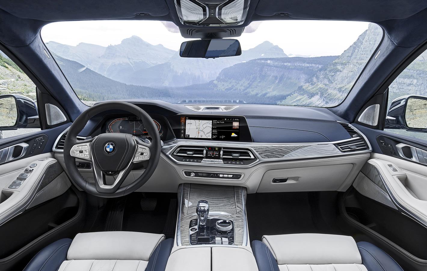 BMW X7 - wnętrze