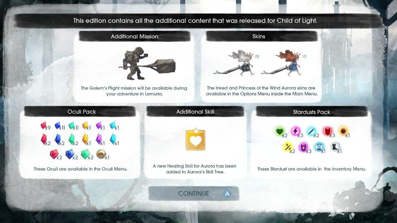 Child of Light Nintendo Switch