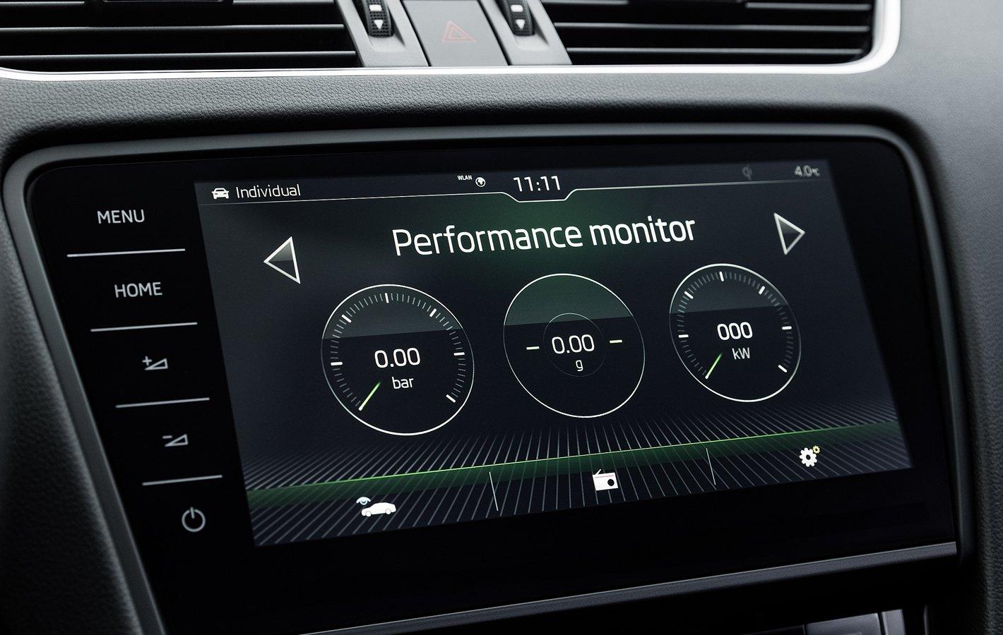 Skoda Octavia RS - monitor wydajności