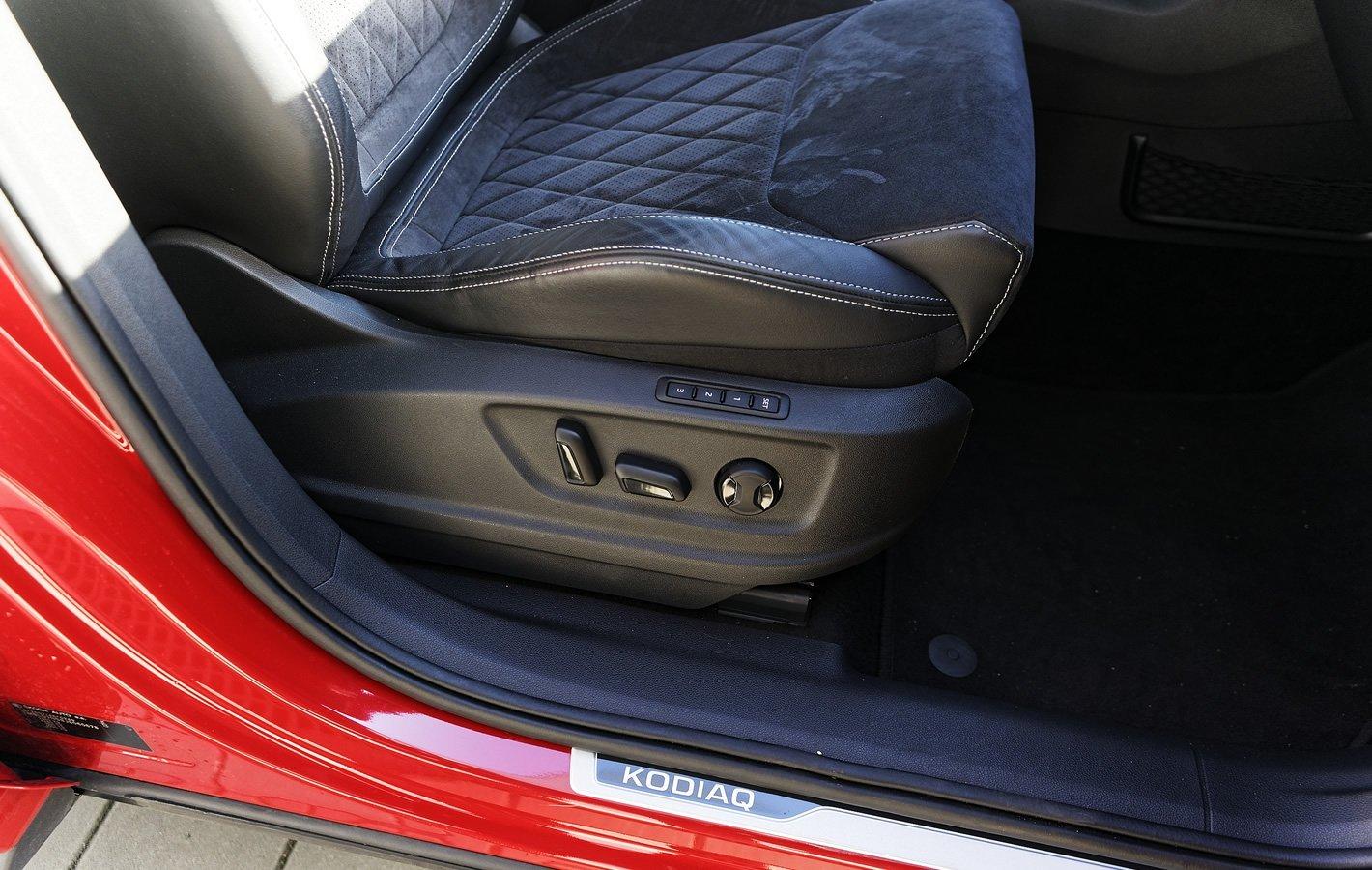 Skoda Kodiaq Sportline - profile także dla fotela pasażera