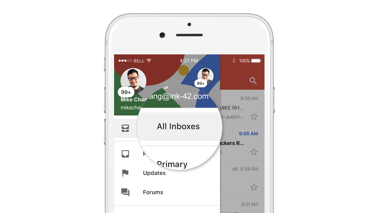gmail dla ios