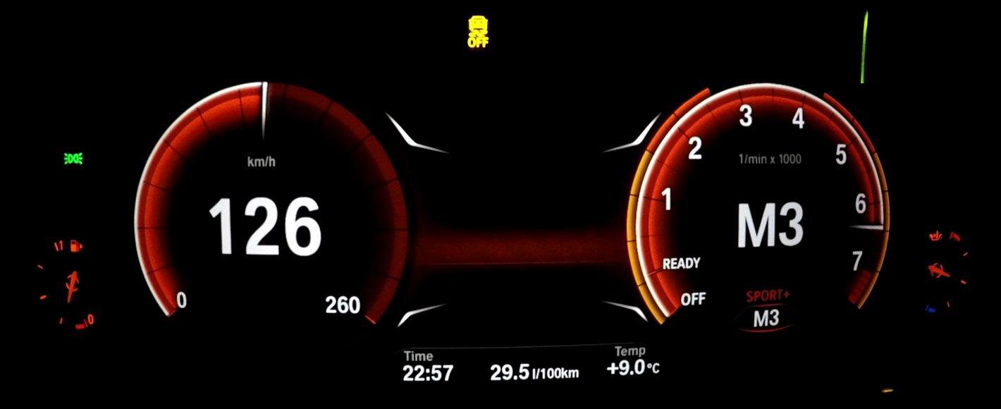 BMW 440i coupe - działanie trybu manualnego