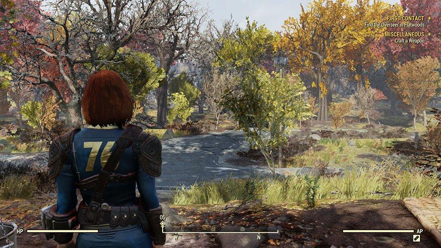 Fallout 76 - Widok TPP