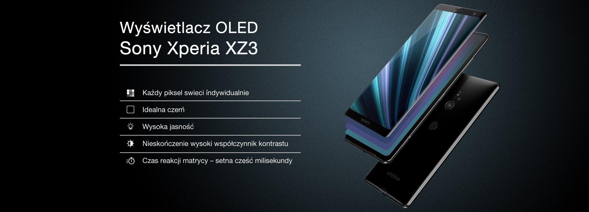 Wyświetlacz OLED HDR w Xperia XZ3