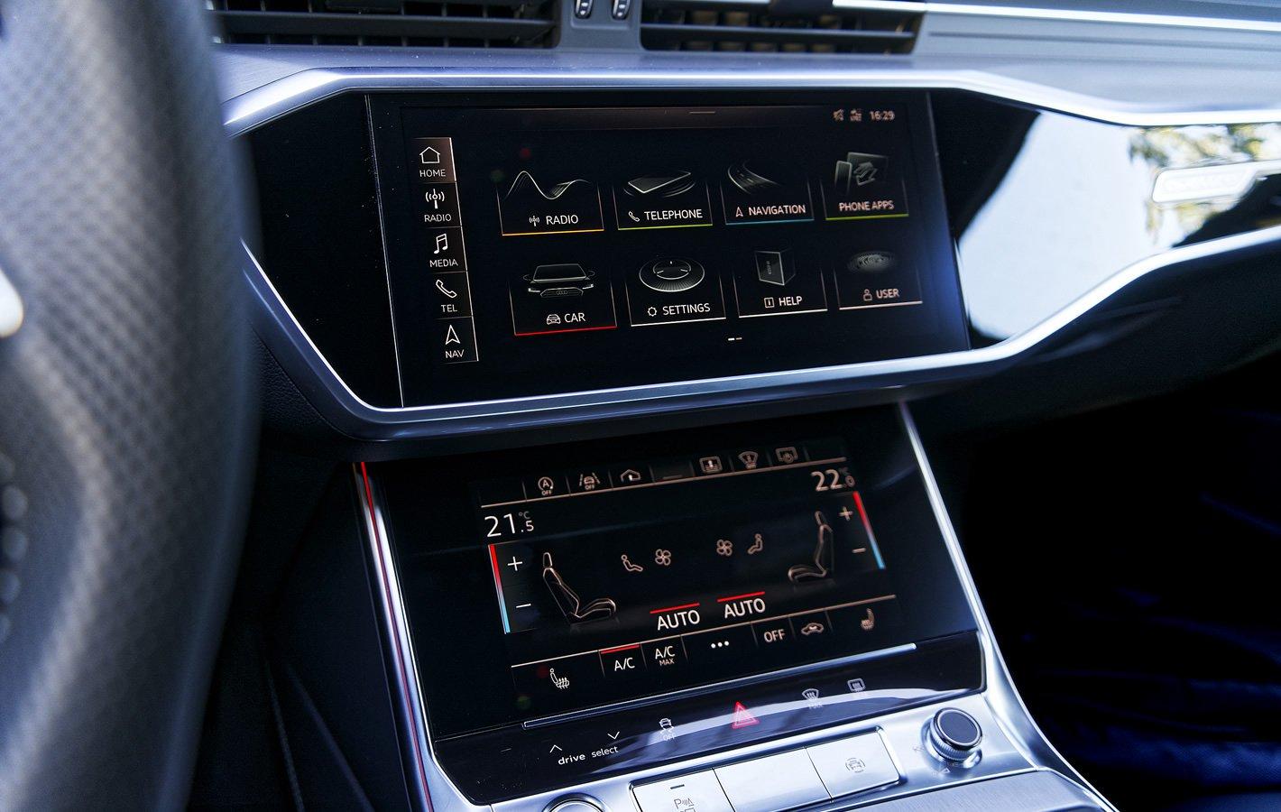 Audi A6 - ekrany systemu multimedialnego