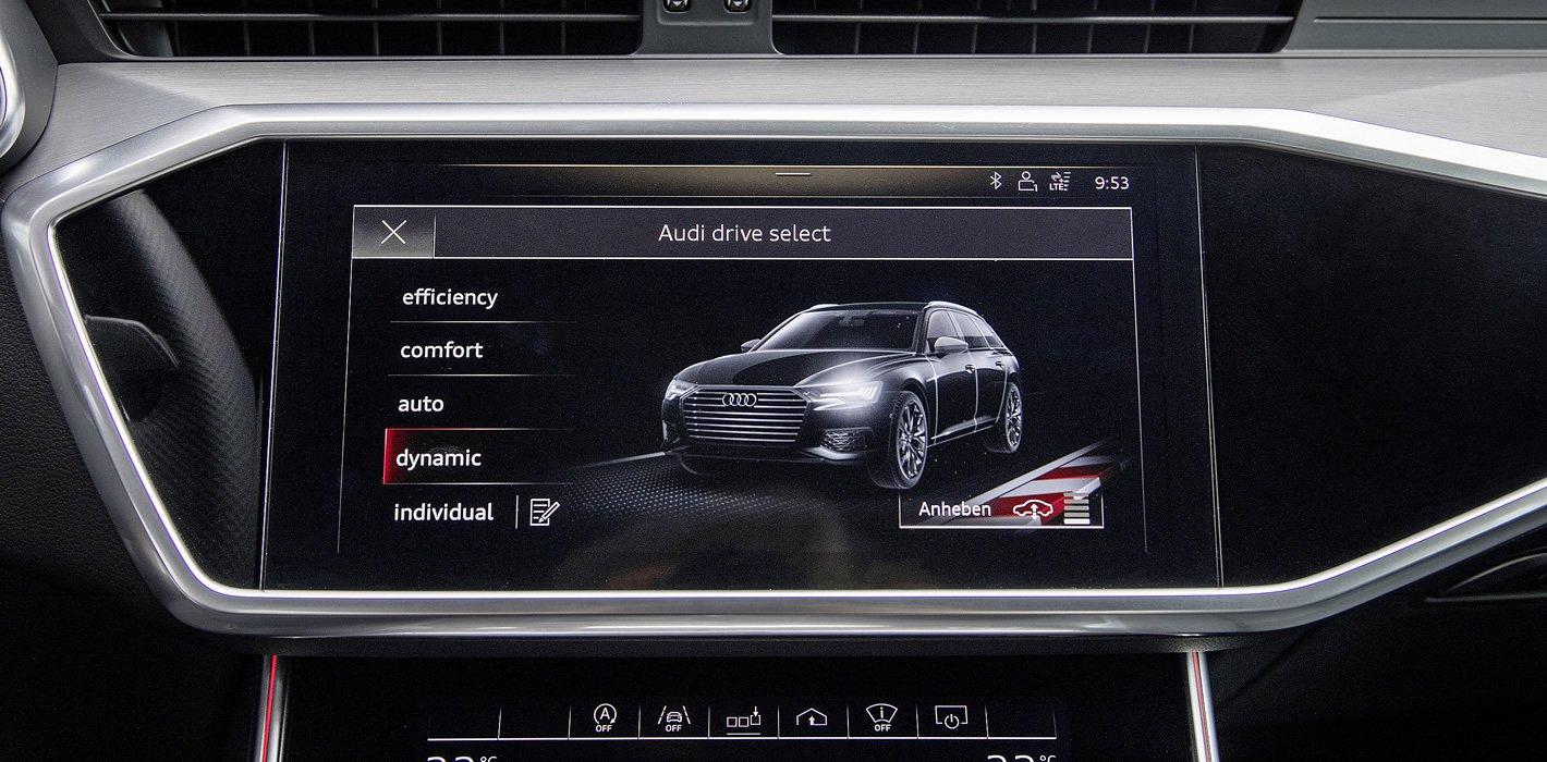 Audi A6 - tryby jazdy