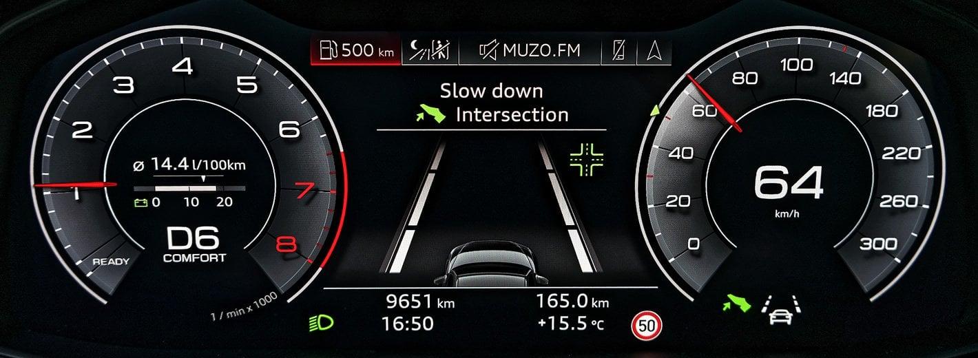 Audi A6 - progresywny adaptacyjny tempomat