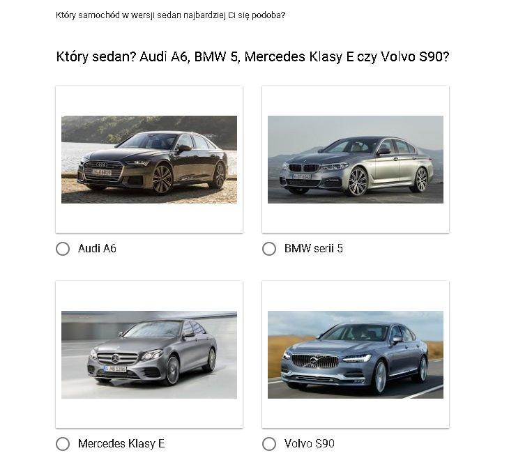 Audi A6, BMW 5, Mercedes Klasy E, Volvo S90 - ankieta