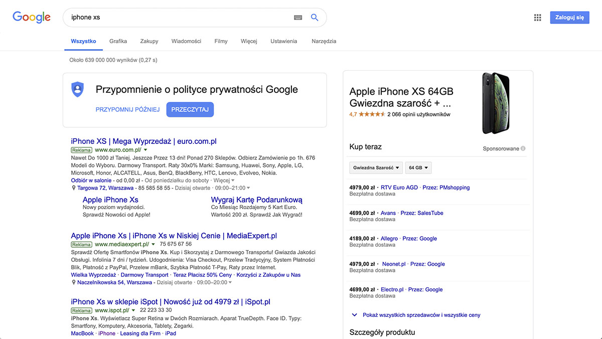 reklama natywna google