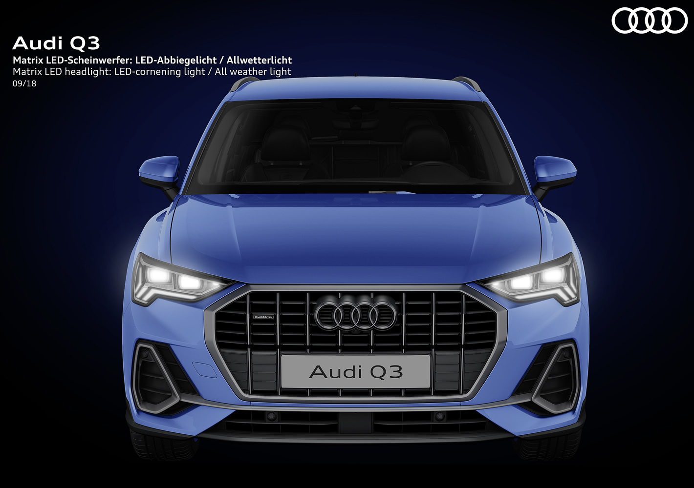 Audi Q3 2019 - reflektory Matrix LED