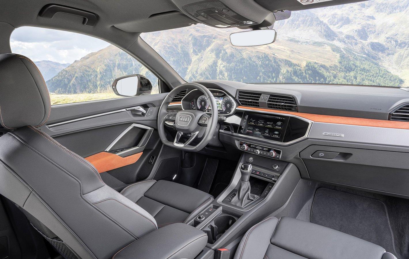 Audi Q3 2019 - dobra widoczność ze środka