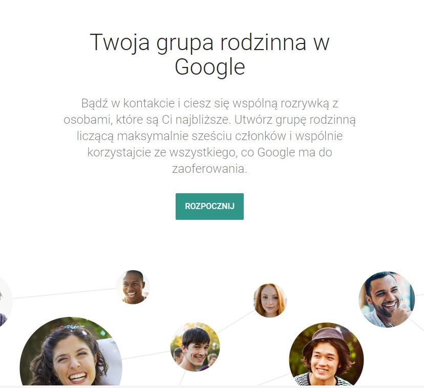 Google One - grupa rodzinna