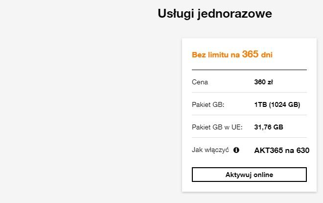 Internet na kartę Orange