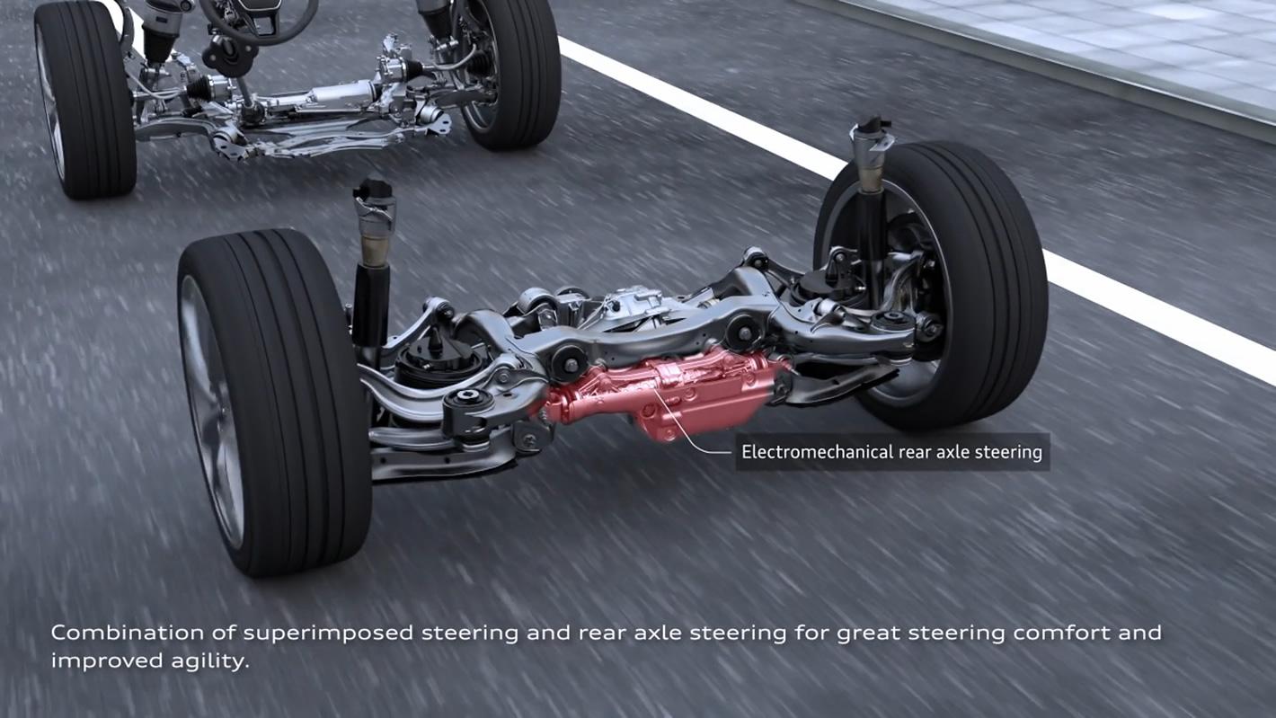 Audi A6 - skrętna tylna oś