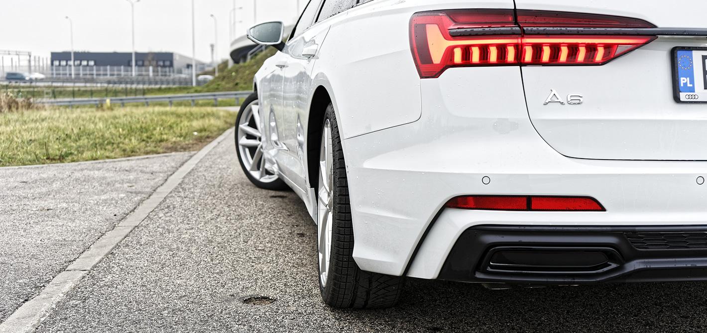 Audi A6 - odchylone tylne koło