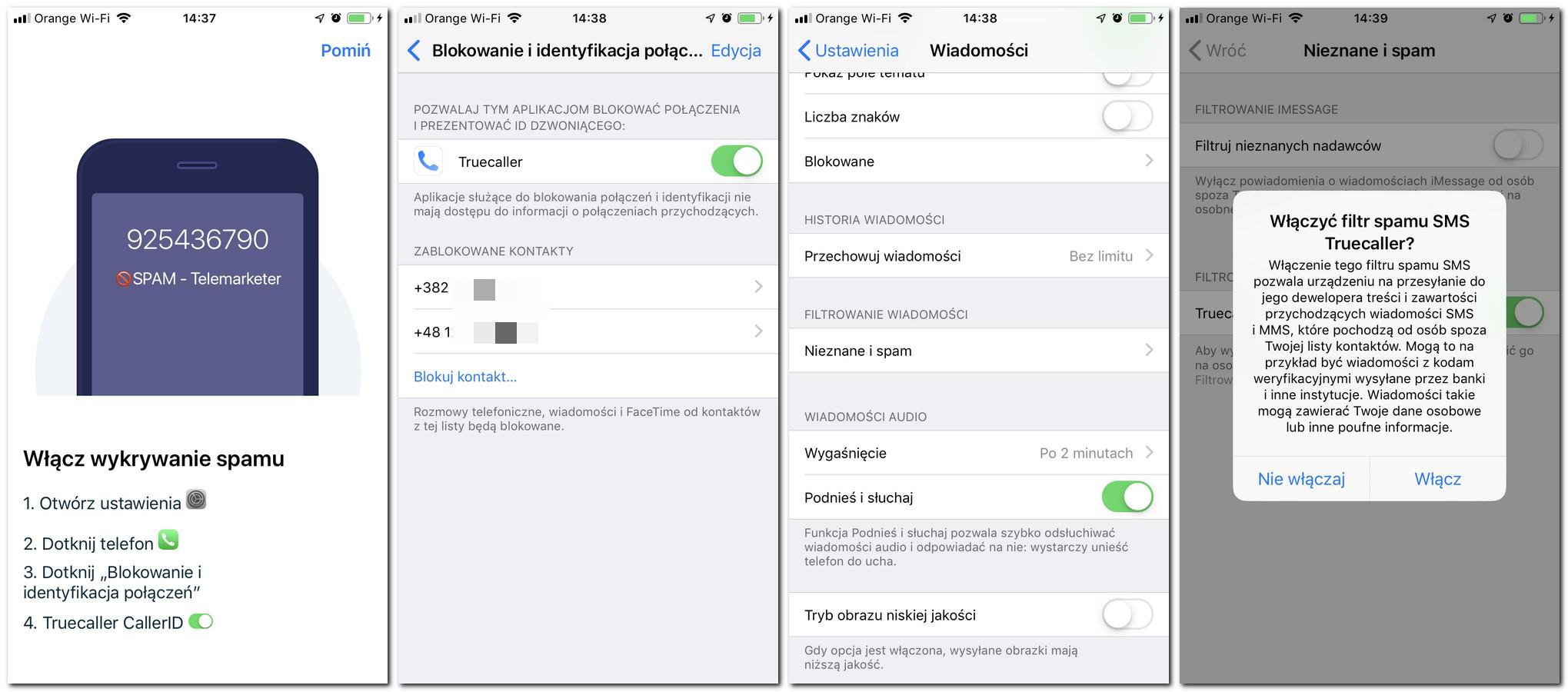 Blokada niechcianych połączeń iOS