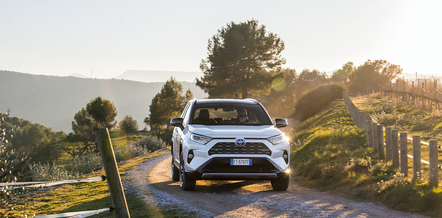 Toyota RAV4 Hybrid 2019 na gruntowej drodze