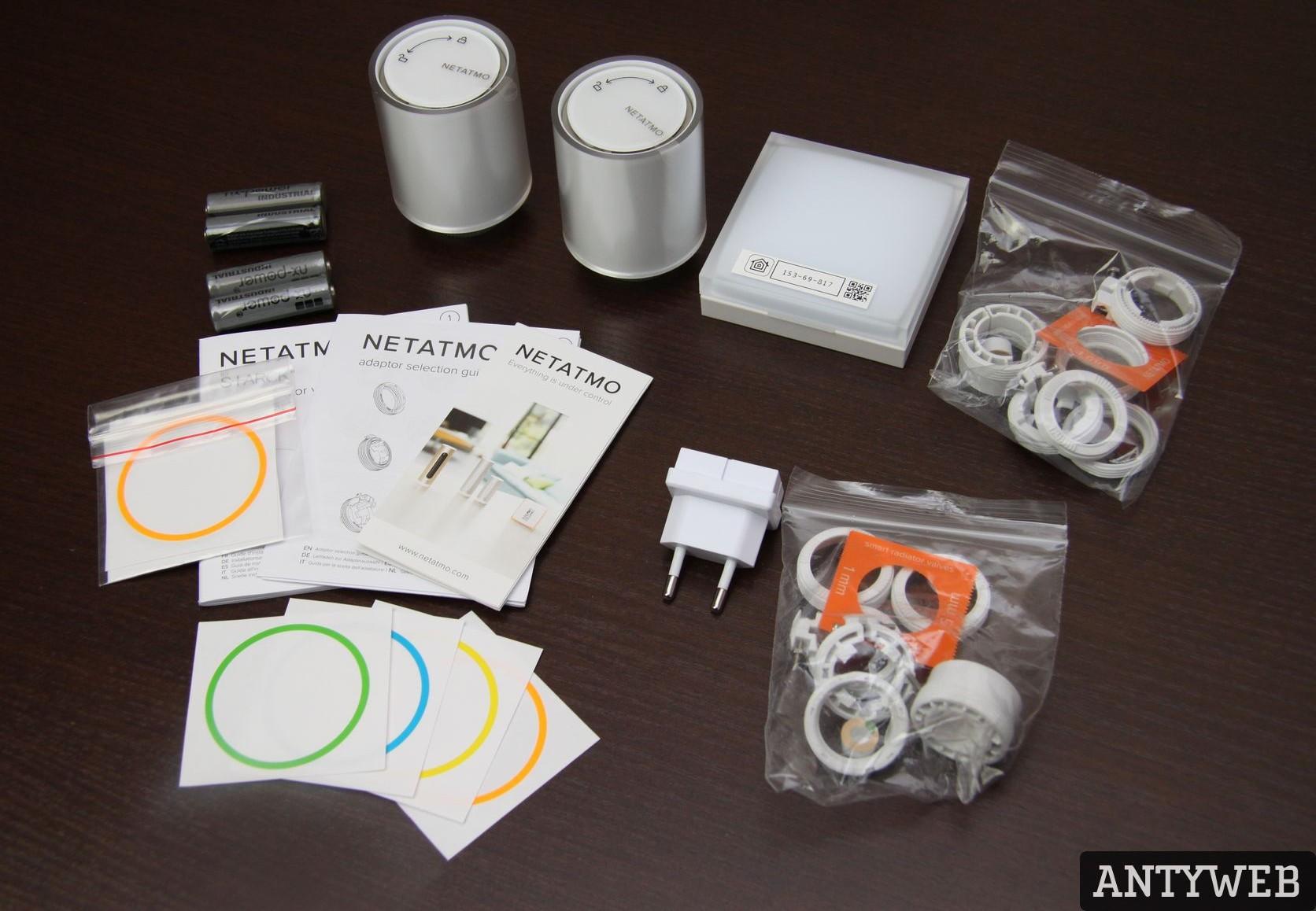 Termostat inteligentny Netatmo Valves Set zawartość zestawu
