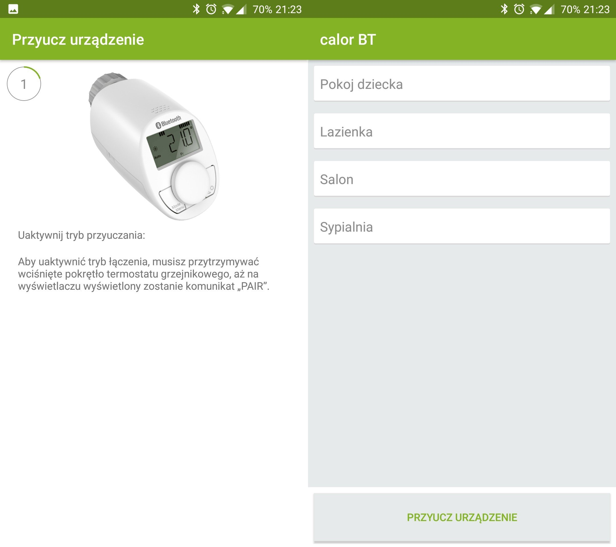 Termostat inteligentny Eqiva eQ-3 Bluetooth aplikacja calor BT