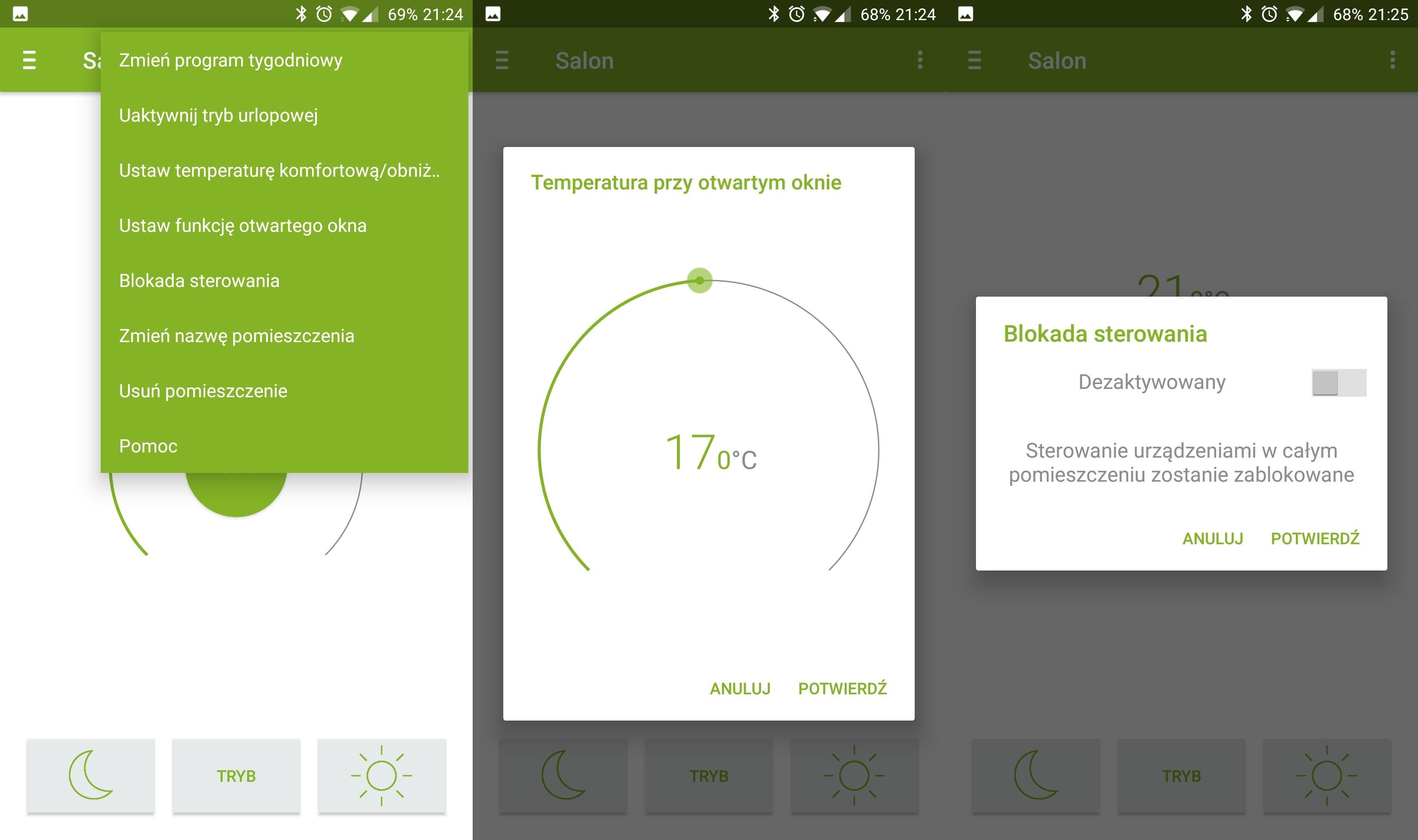 Termostat inteligentny Eqiva eQ-3 Bluetooth aplikacja calor BT dodatkowe opcje