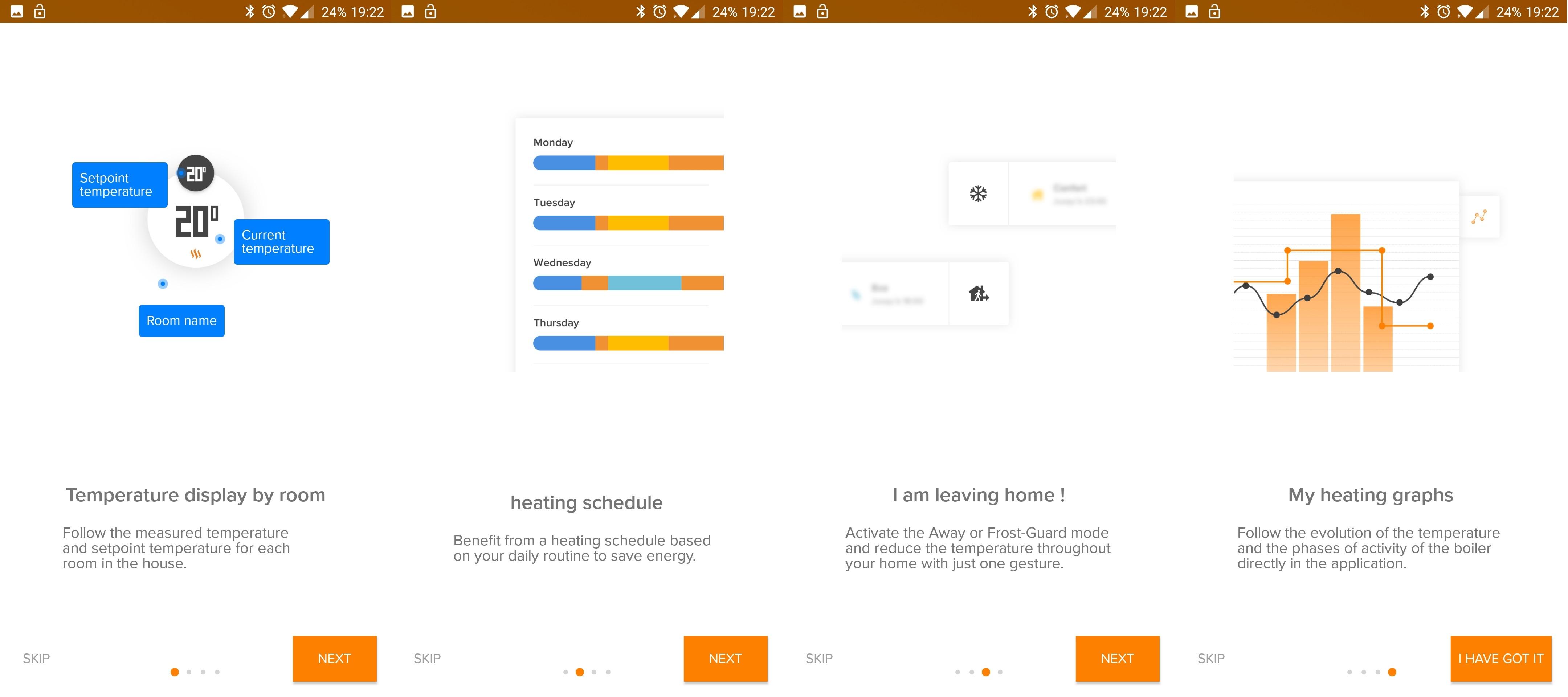 Termostat inteligentny Netatmo Valves Set aplikacja Energy opis konfiguracji planów dziennych