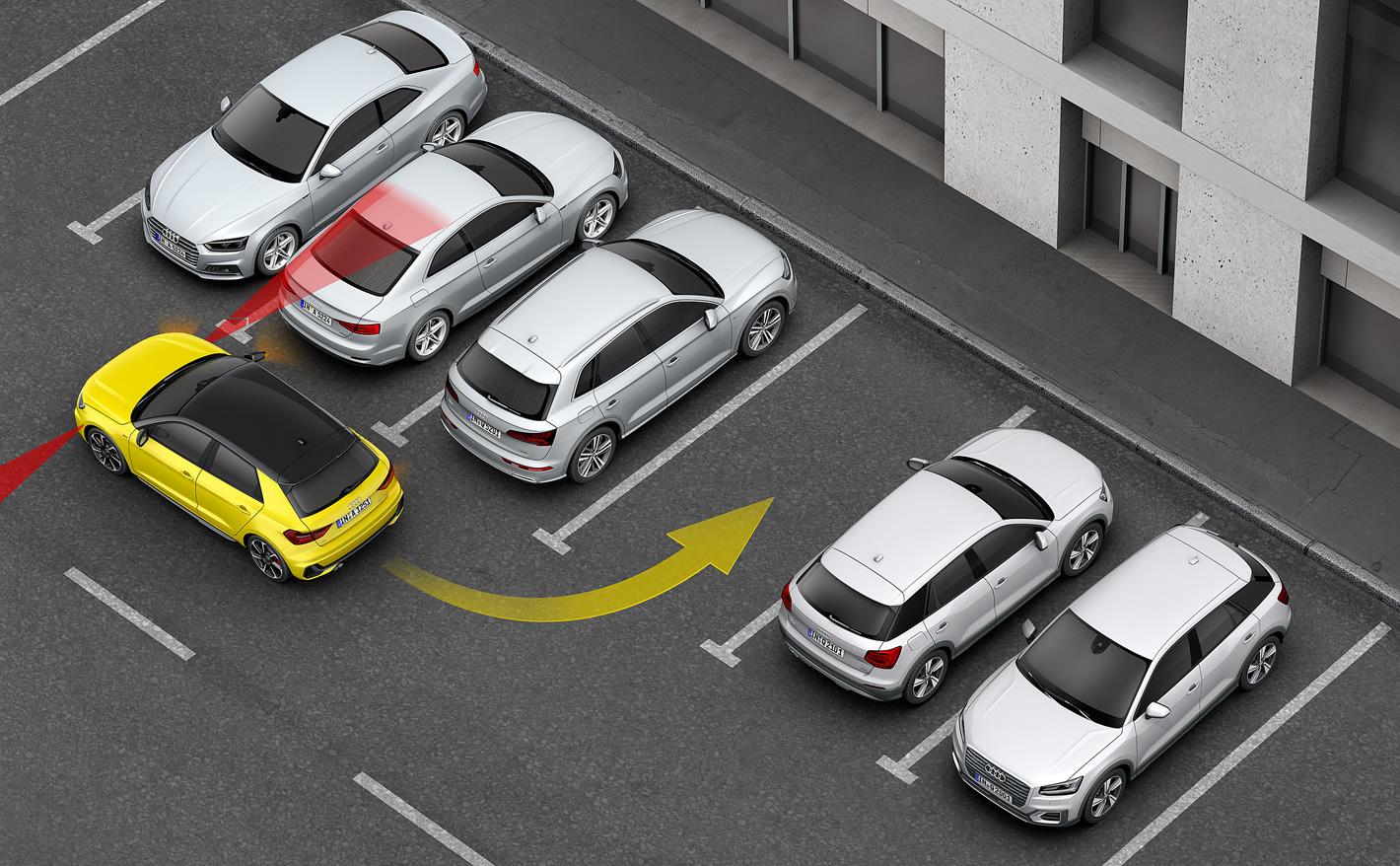 Audi A1 2019 - asystent parkowania
