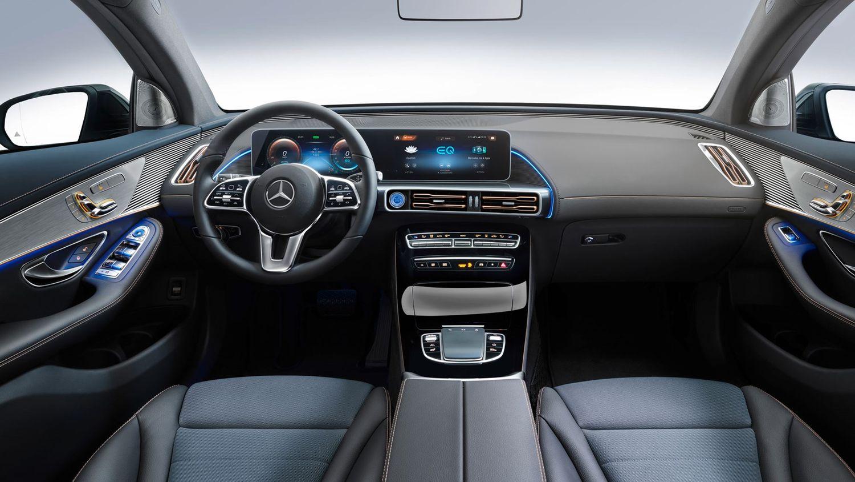 Mercedes EQC400 wnętrze