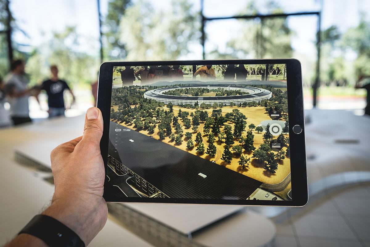 rozszerzona rzeczywistość tablet makieta
