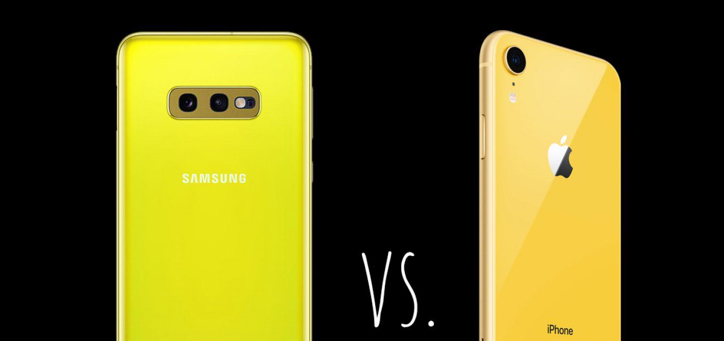 iphone xr vs galaxy s10 e