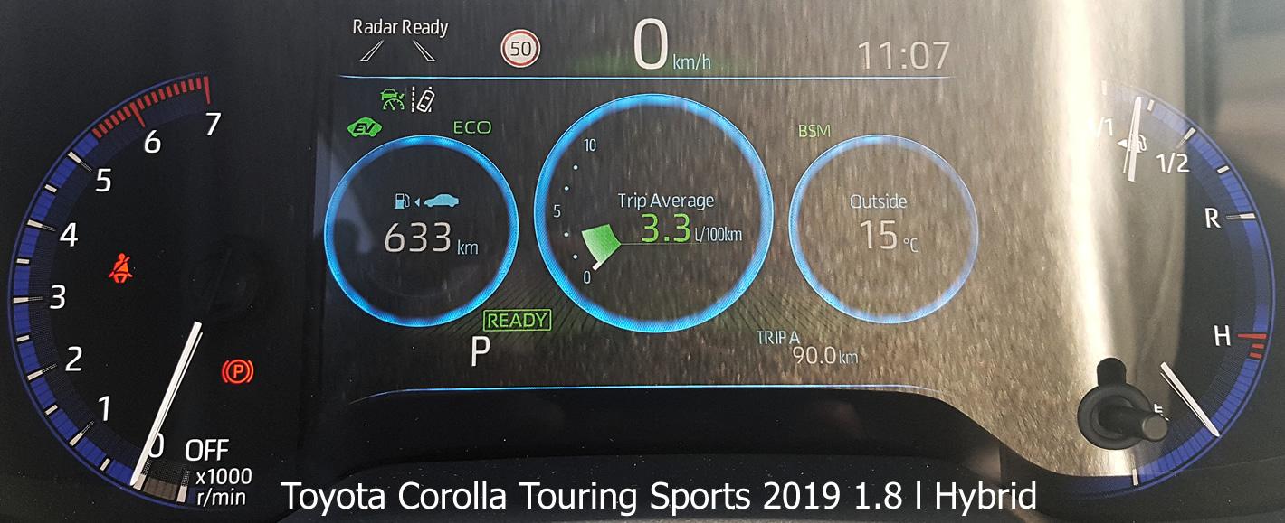 Toyota Corolla Touring Sports 1.8 l Hybrid - zużycie paliwa