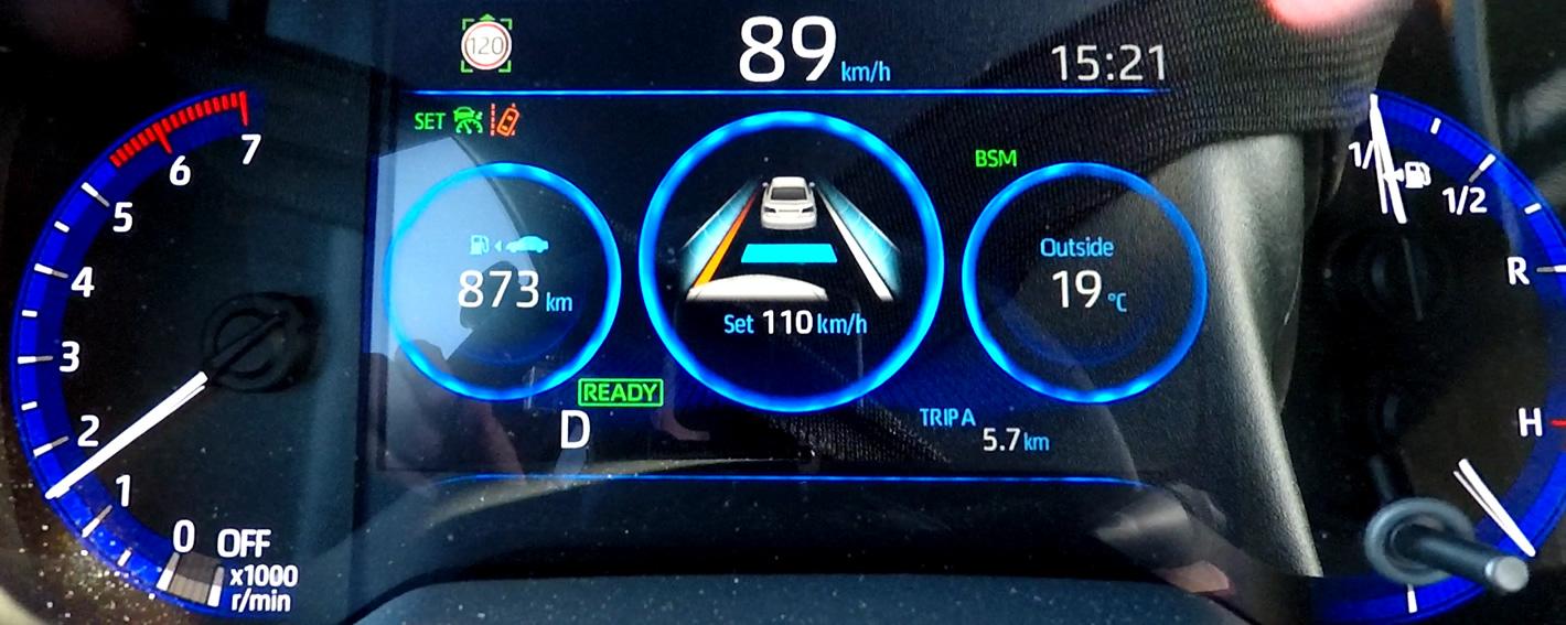 Toyota Corolla 2019 - adaptacyjny tempomat + asystent pasa ruchu podczas niezamierzonego zjazdu z zajmowanego pasa ruchu