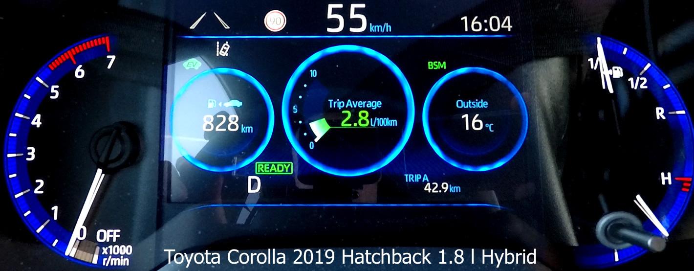 Toyota Corolla 1.8 l Hybrid - spalanie