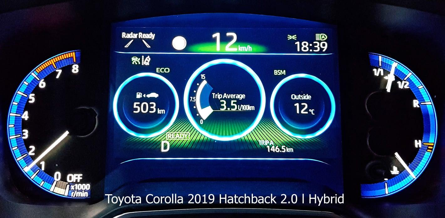 Toyota Corolla 2.0 l Hybrid 2019 - spalanie