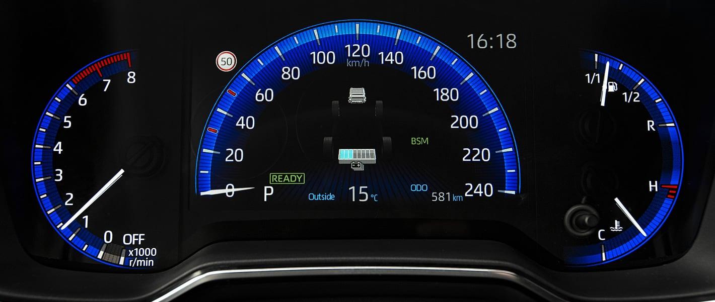 Toyota Corolla 2019 - zestaw zegarów kierowcy
