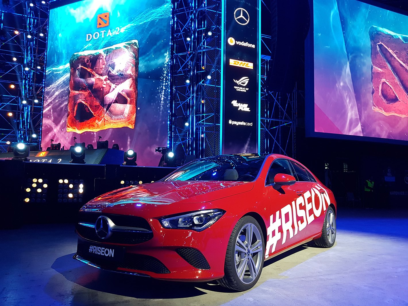Mercedes-Benz CLA Coupe na ESL One 2019