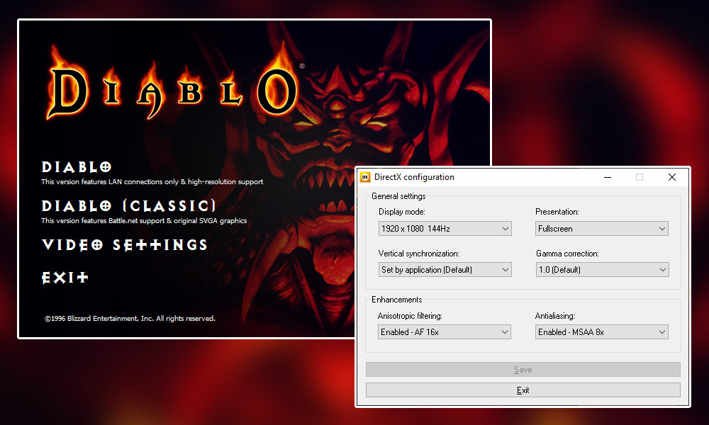 Diablo 1 - Opcje