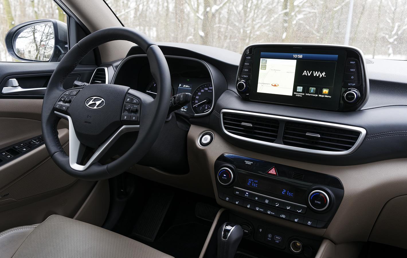 Hyundai Tucson 2.0 CRDi 48V - kokpit