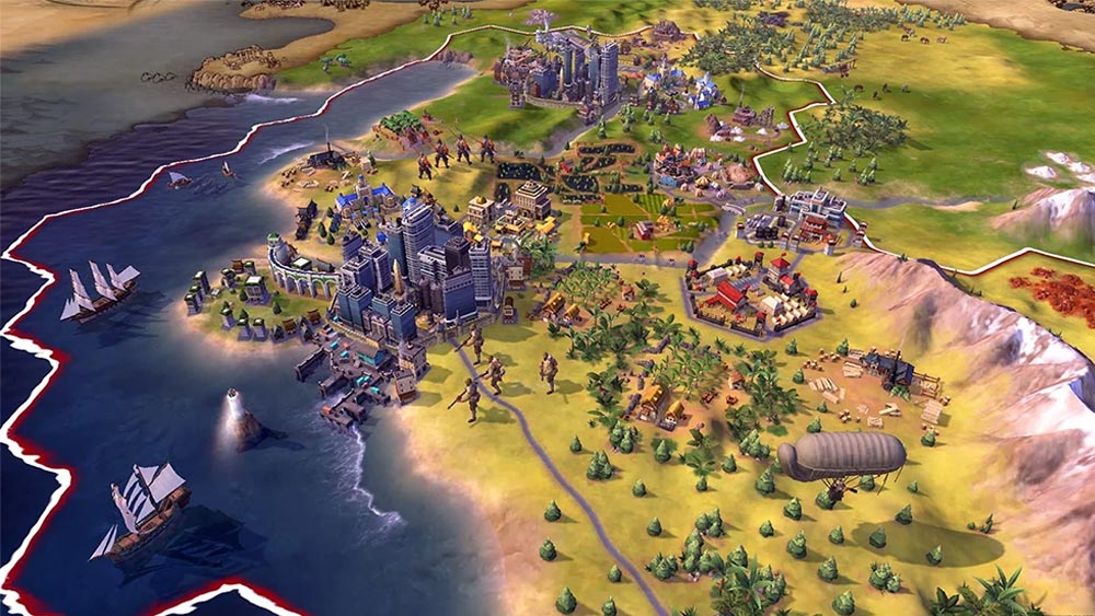 Play with Civilization VI on the PC and then continue in bed