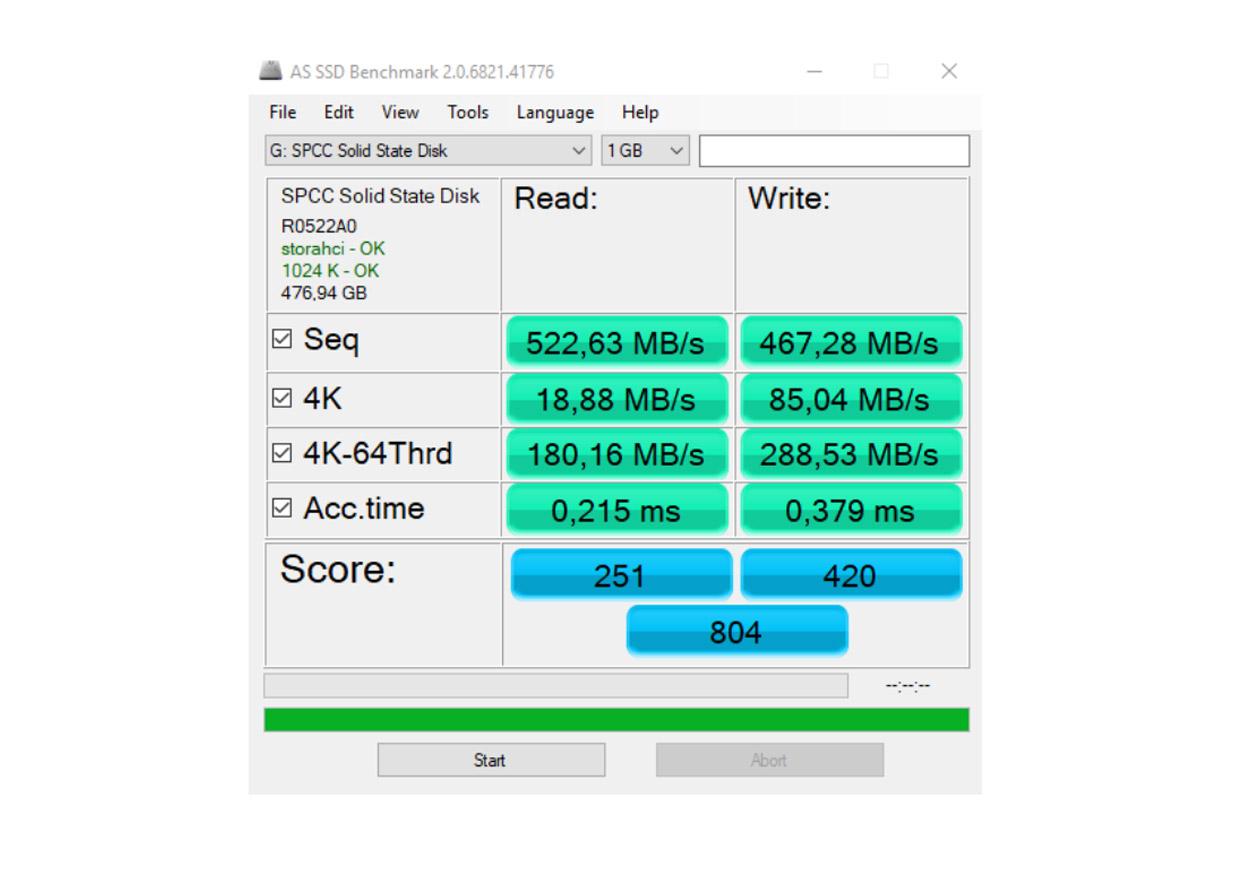 Światłowód Plusa - Zapis i odczyt dysku SSD