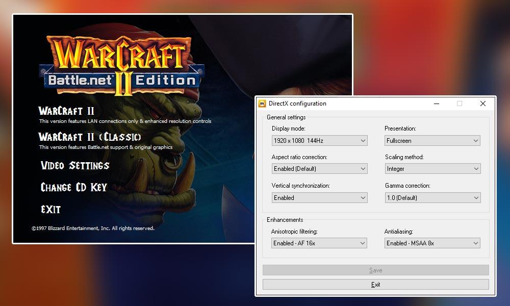 WarCraft II - Ustawienia