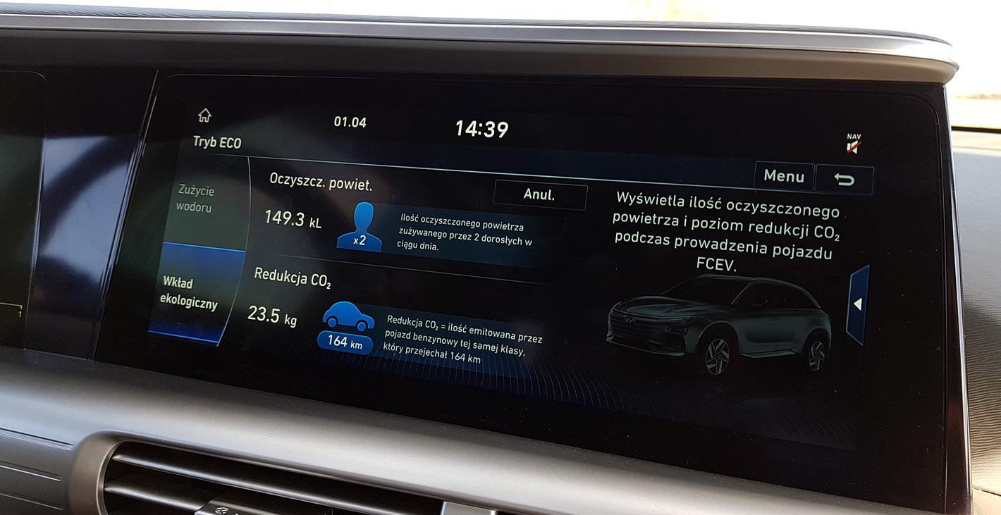 Hyundai Nexo oczyszcza powietrze