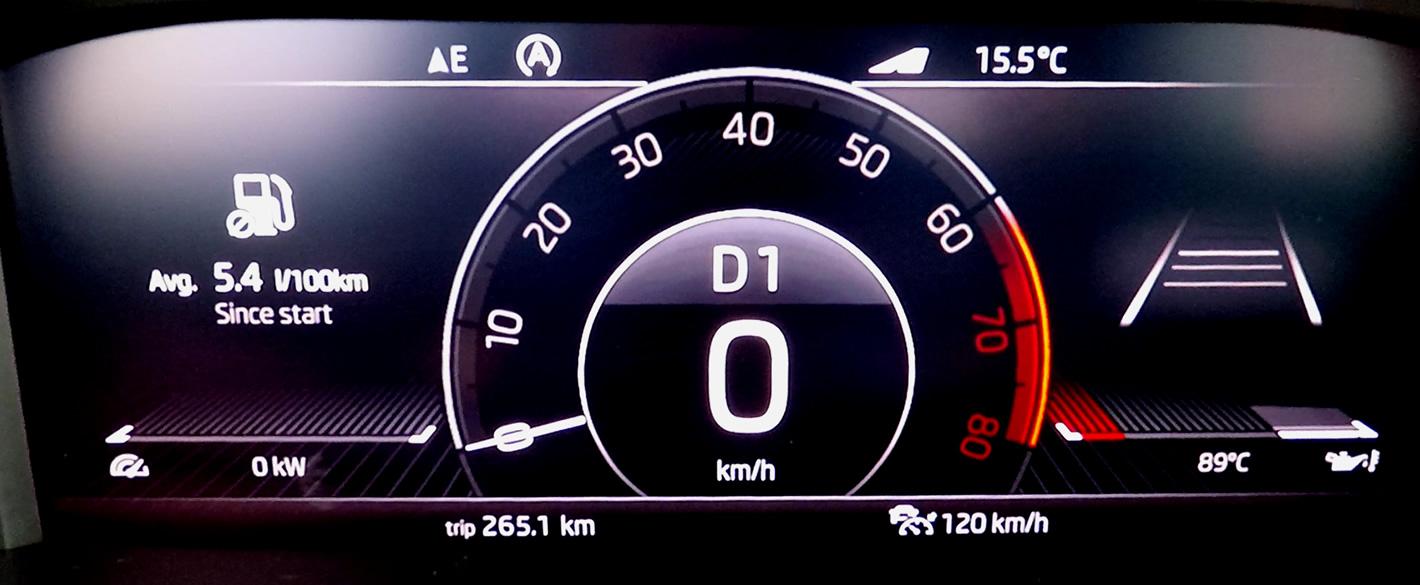 Skoda Scala 1.5 TSI DSG zużycie paliwa