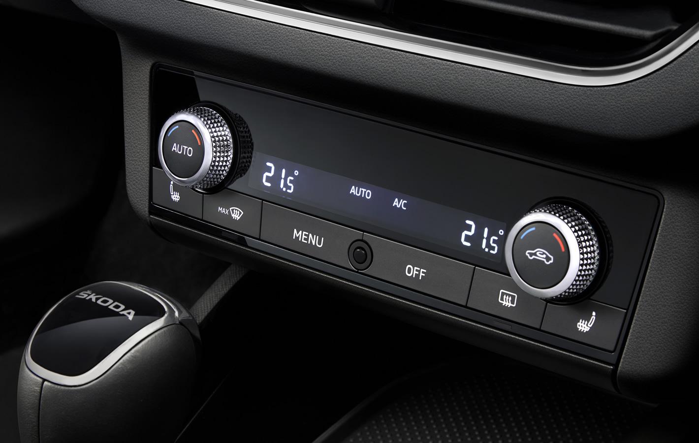 Skoda Scala - panel klimatyzacji
